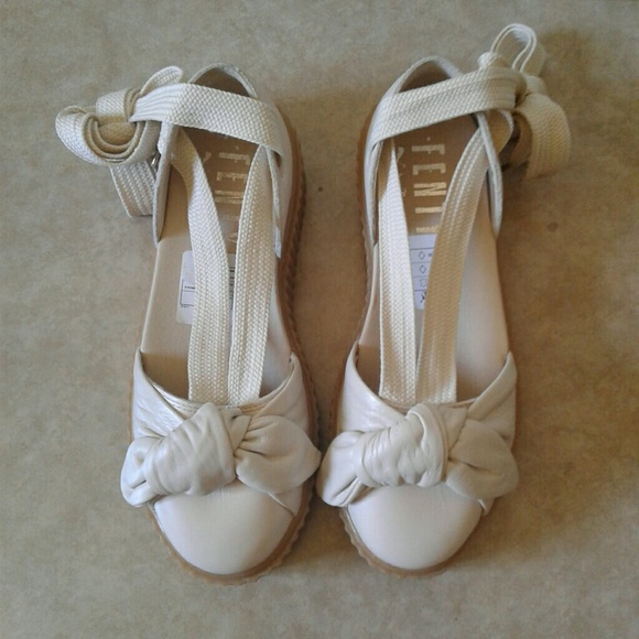 10426da810bd Puma Fenty Rihanna Oatmeal Bow Creeper Sandals